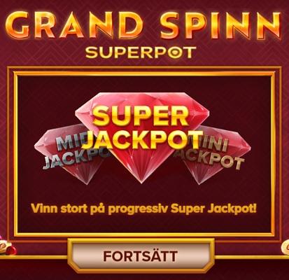 Spela Grand Spinn Superpot på Videoslots!