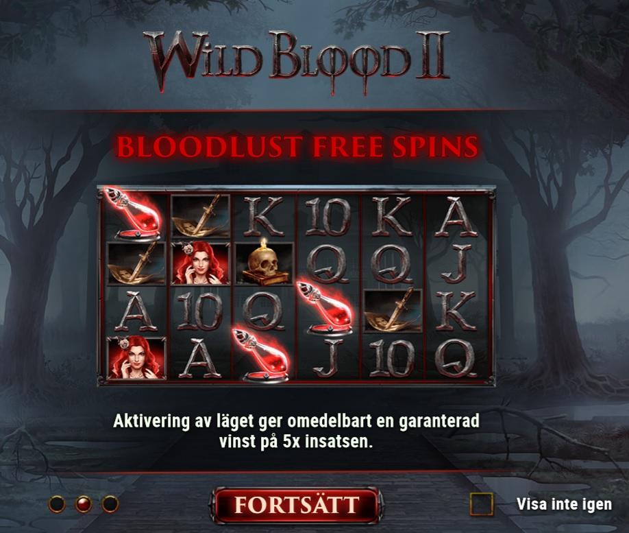 Wild Blood 2 slot recension